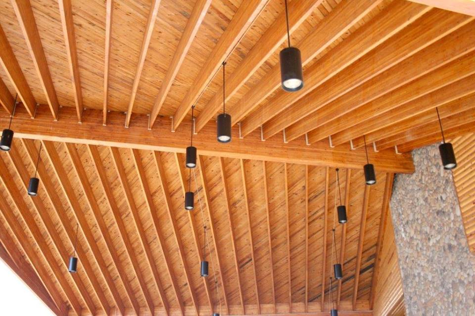 Ceiling made from ASL glulam beams